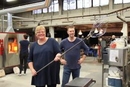 Pia och Pär Lindahl tyckte också att det var roligt att få prova på!